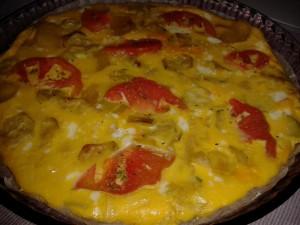 frittata con verdure cotta