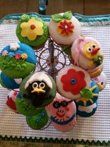 cupcakes Peppa Pig e Calimero