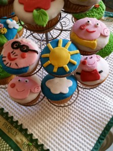 cup cakes Peppa Pig e Calimero