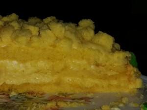 Torta mimosa-pan di spagna e crema chantilly