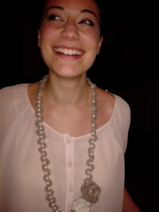 collana di mohair e perle