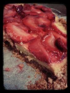 Torta frutta fagole fresche