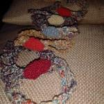 Bracciali colorati tessuto