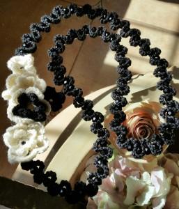 collana lana e perle di vetro