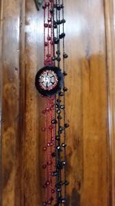 Collana di seta con pendente